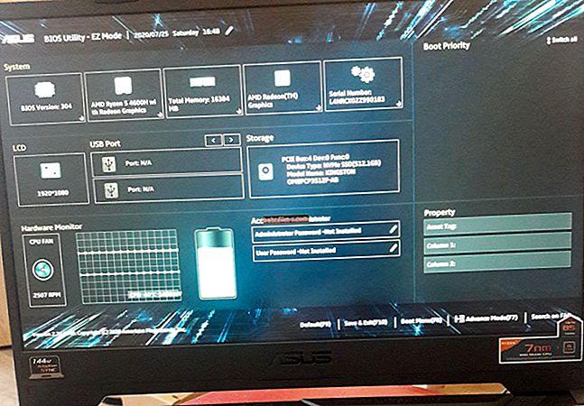 إعدادات BIOS للكمبيوتر المحمول (بالصور)