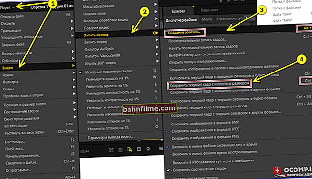 كيفية حفظ إطار من مقطع فيديو إلى صورة. إنشاء قائمة الشاشة (القصة المصورة) في الوضع التلقائي